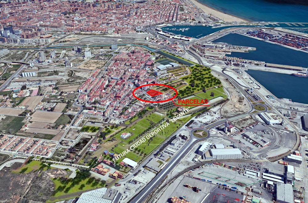 parcela urbana en venta en el barrio de Nazaret de Valencia